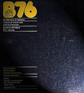 Catálogo de la Biennale di Venezia de 1976