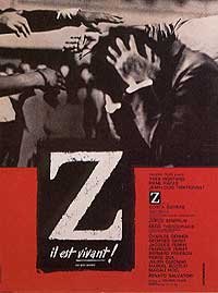 Cartel de la película Z, de Costa-Gavras