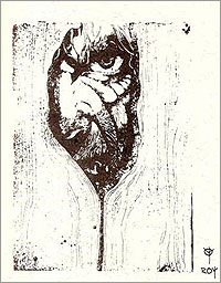 Mirada, ilustración de Rodrigo Díaz