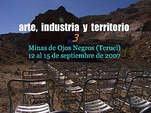 Cartel de Arte, industria y territorio.