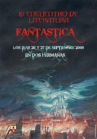 Cartel del IV Encuentro de Literatura Fantástica de Ficciones y Otros Mundos