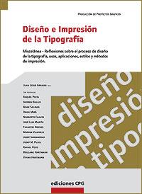 Cubierta del libro Diseño e Impresión de la Tipografía.
