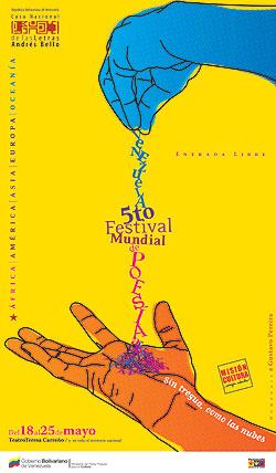 Cartel del 5to Festival Mundial de Poesía