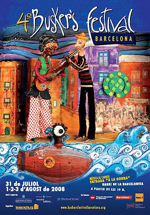 Cartel del BUSKER'S FESTIVAL BARCELONA