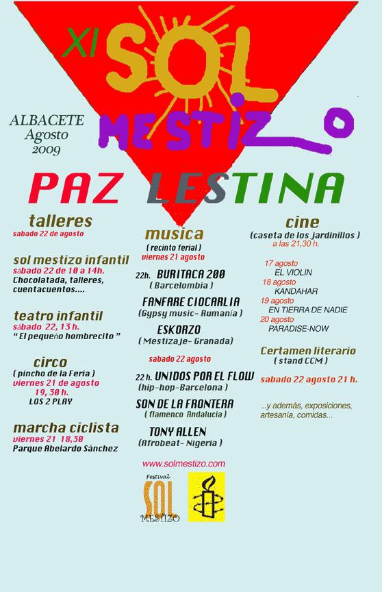 Cartel del XI Festival Sol Mestizo