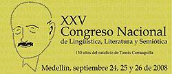 Logo del XXV Congreso Nacional de Lingüística, Literatura y Semiótica