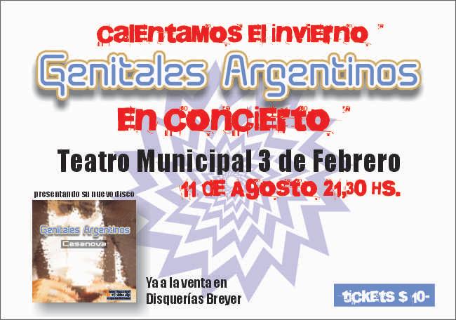 Genitales Argentinos en concierto