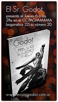 Portada de la revista cultural Godot