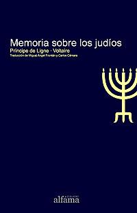 Cubierta del libro Memoria sobre los judíos, del Príncipe de Ligne