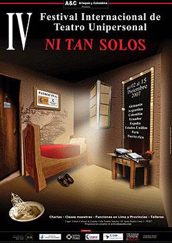 Cartel del IV Festival Internacional de Teatro Unipersonal NI TAN SOLOS