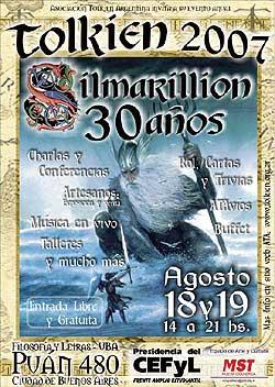 Cartel de TOLKIEN 2007 - 30 AÑOS de EL SILMARILLION