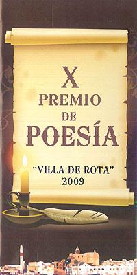 Cartel del Premio de poesía Villa de Rota