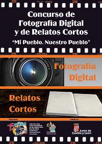 Cartel del Concurso de Fotografía Digital y de Relatos Cortos Mi pueblo. Nuestro pueblo