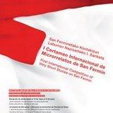 Cartel del Certamen Internacional de Microrrelatos de San Fermín