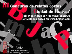 Cartel del Concurso de Relatos Cortos Ciudad de Huesca
