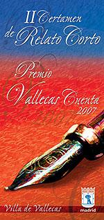 Cartel del II Certamen Joven de Relato Corto Vallecas Cuenta