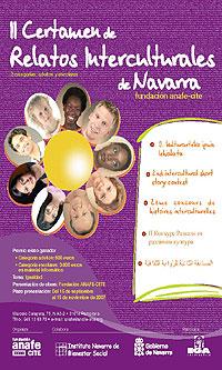 Cartel del II Certamen de Relatos Interculturales de Navarra
