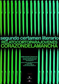 Cartel del Certamen Literario de Relato Corto para Jóvenes Corazón de La Mancha