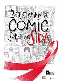 Cartel del II Certamen de Cómic sobre el SIDA