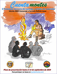 Cartel del Certamen Literario de Cuentos y Relatos de Montaña Cuentamontes