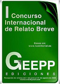 Cartel del Concurso Internacional de Relato Breve GEEPP Ediciones