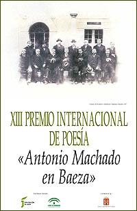 Cartel del Premio Internacional de Poesía Antonio Machado en Baeza