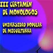 Imagen del III Certamen de Monólogos Universidad Popular de Miguelturra