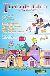Cartel de la I Feria Internacional del Libro en Huancayo