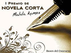 Cartel del I Premio de Novela Corta Malela Ramos