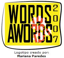 Premios Words Awords 2007. Logotipo creado por Mariana Paredes.