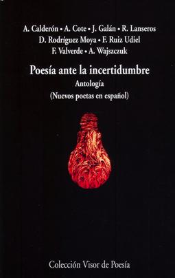 Cubierta de la antología Poesía ante la incertidumbre