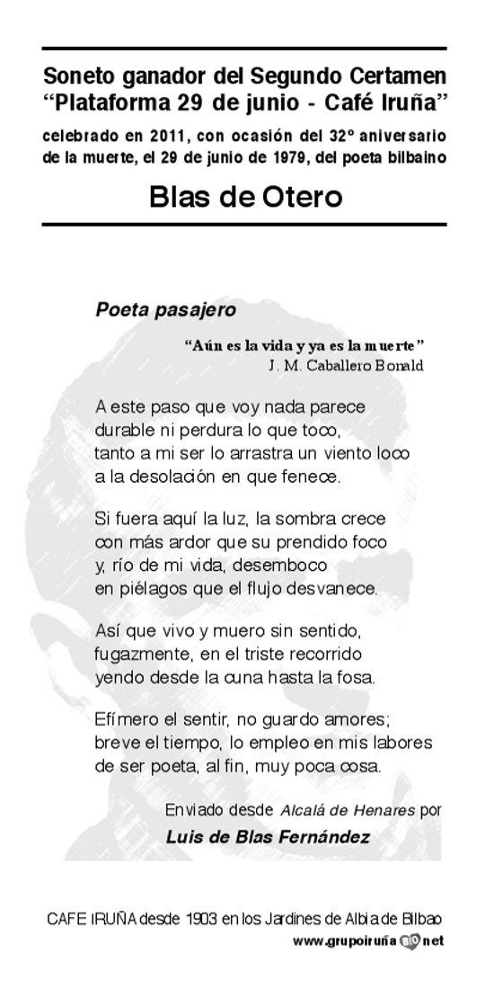 Soneto de Luis de Blas
