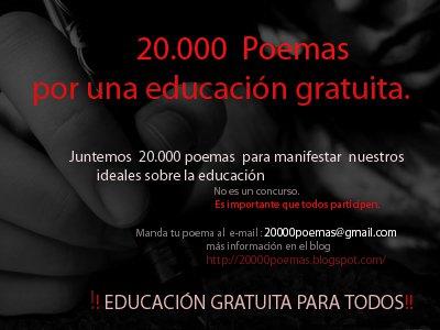 20.000 poemas por una Educación gratuita