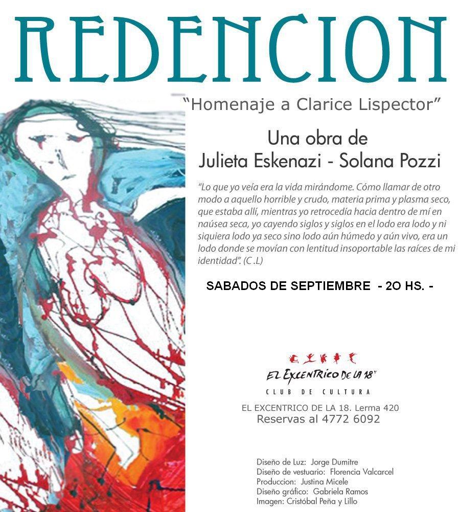 REDENCIÓN, Homenaje a Clarice Lispector